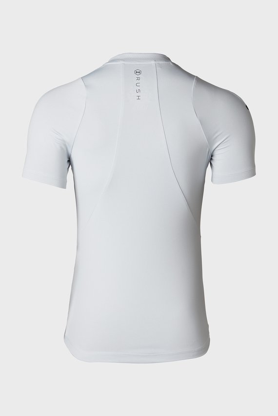 Женская белая футболка UA Rush Short Sleeve