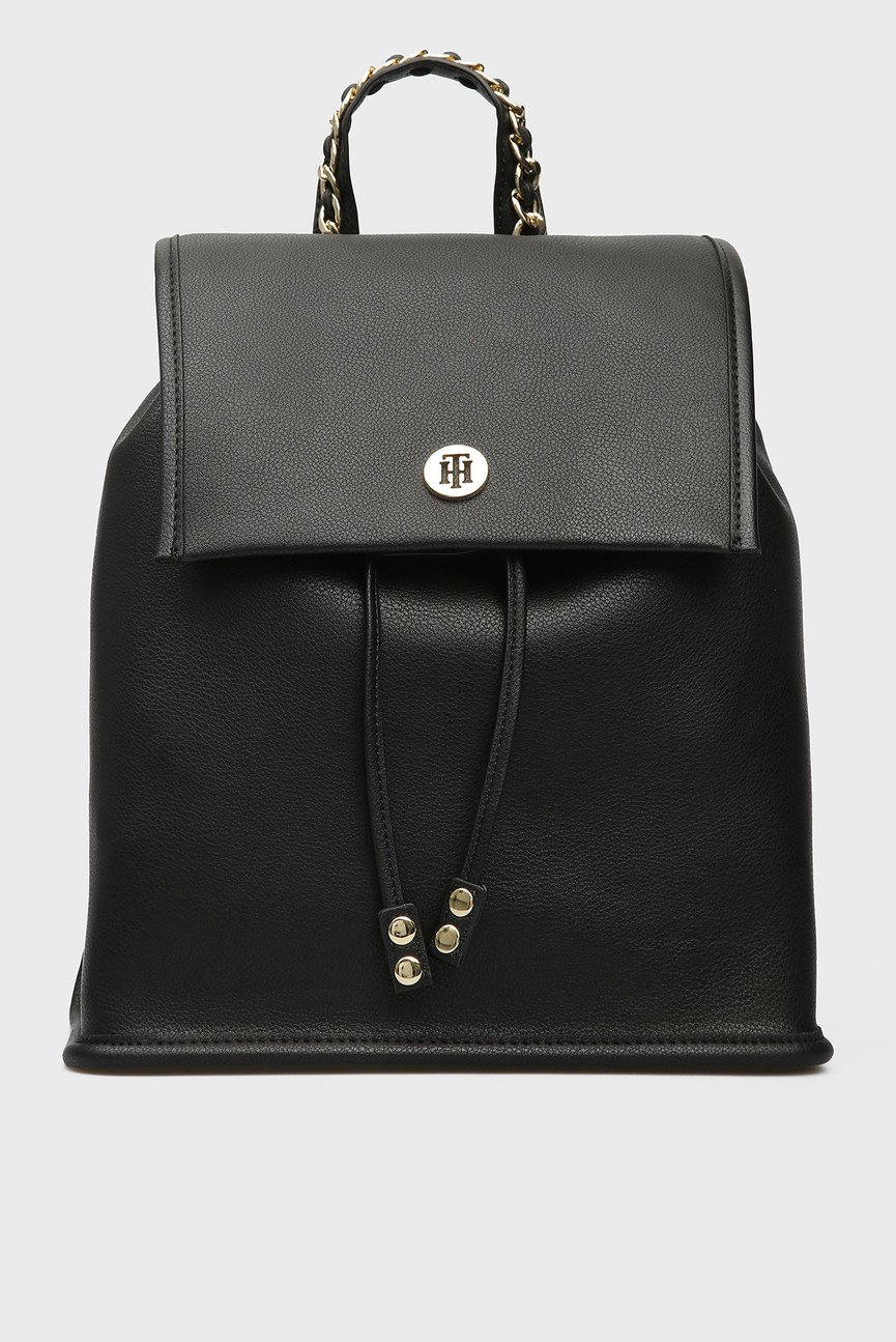 Женский черный рюкзак TOMMY CHAIN