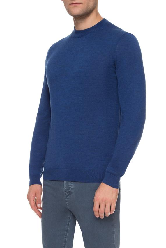 Мужской синий шерстяной джемпер