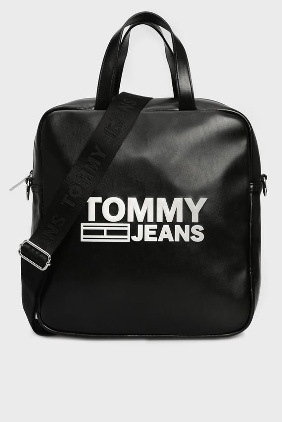 Женская черная сумка через плечо TJW TEXTURE