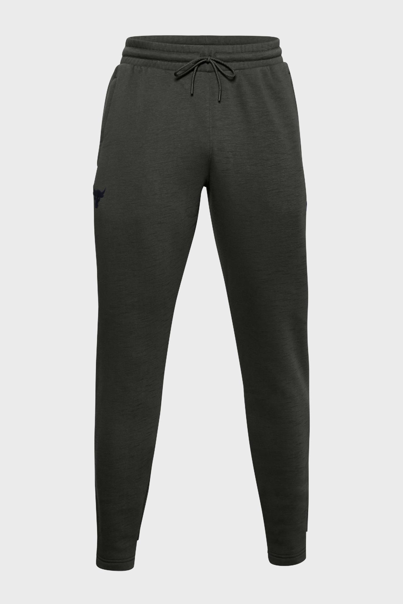 Чоловічі темно-зелені спортивні штани UA PJT ROCK CC FLEECE 1