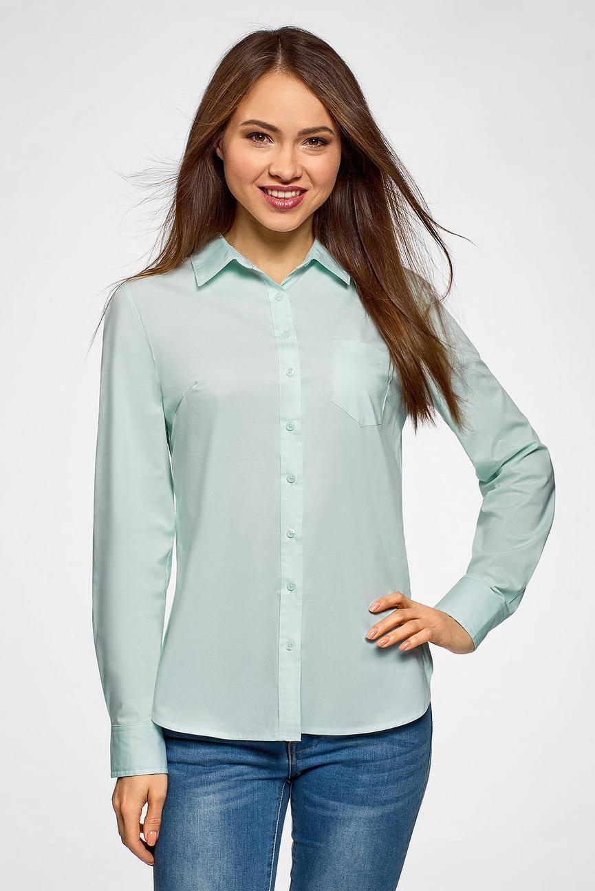 Женская мятная рубашка