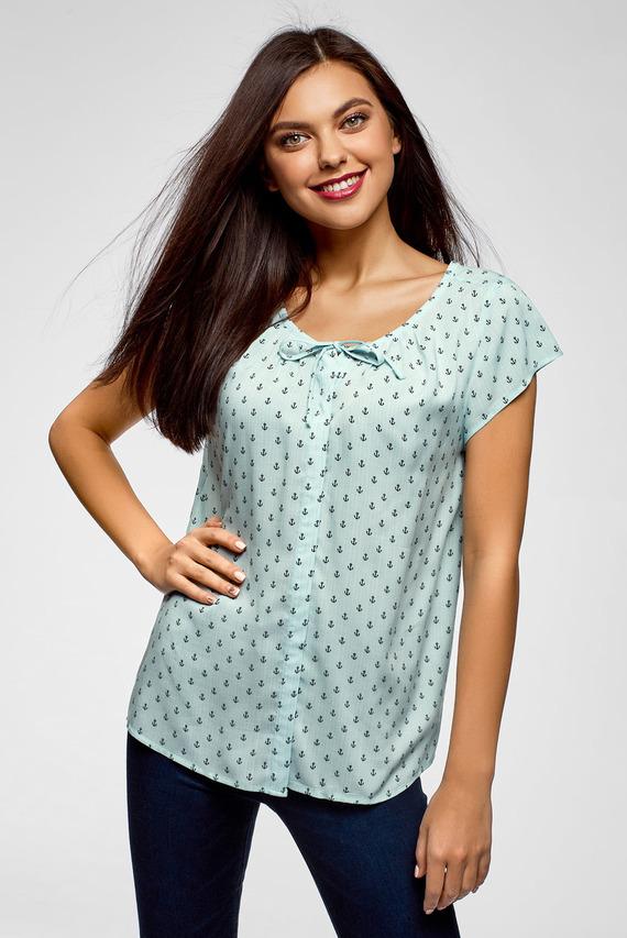 Женская ментоловая блуза