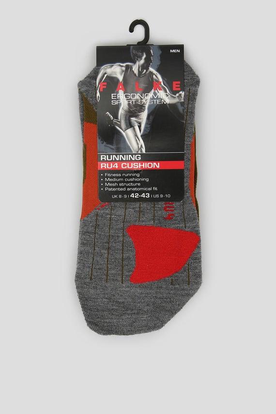 Мужские зеленые носки для бега RU4 CUSHION