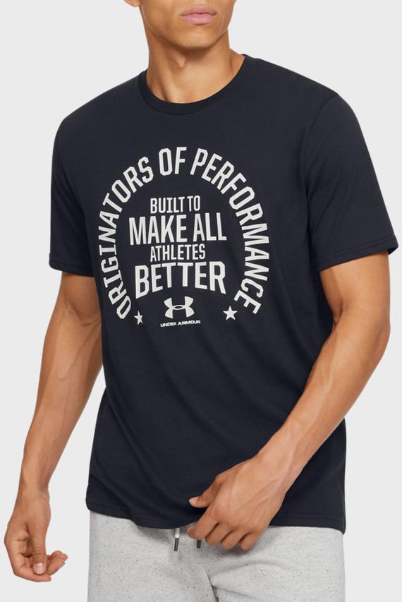Мужская черная футболка UA PERF. ORIGIN MISSION SS-BLK
