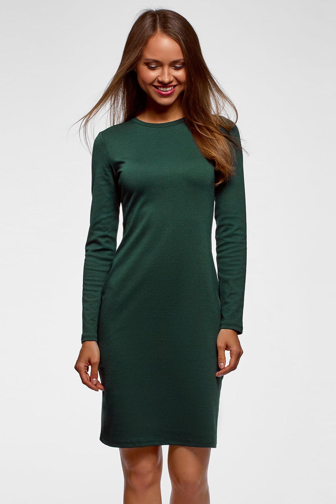 Купить Женское зеленое платье Oodji Oodji 14011027 38261 6900N – Киев,  Украина. Цены в интернет магазине MD Fashion 3be842612bc