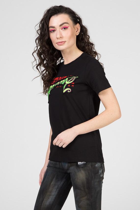 Женская черная футболка T-SILY-ZD