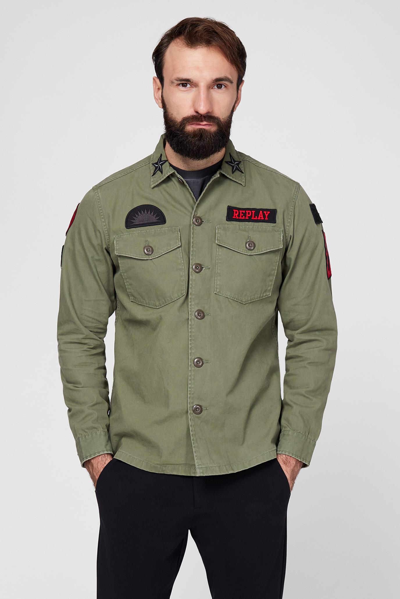 Мужская зеленая рубашка 1