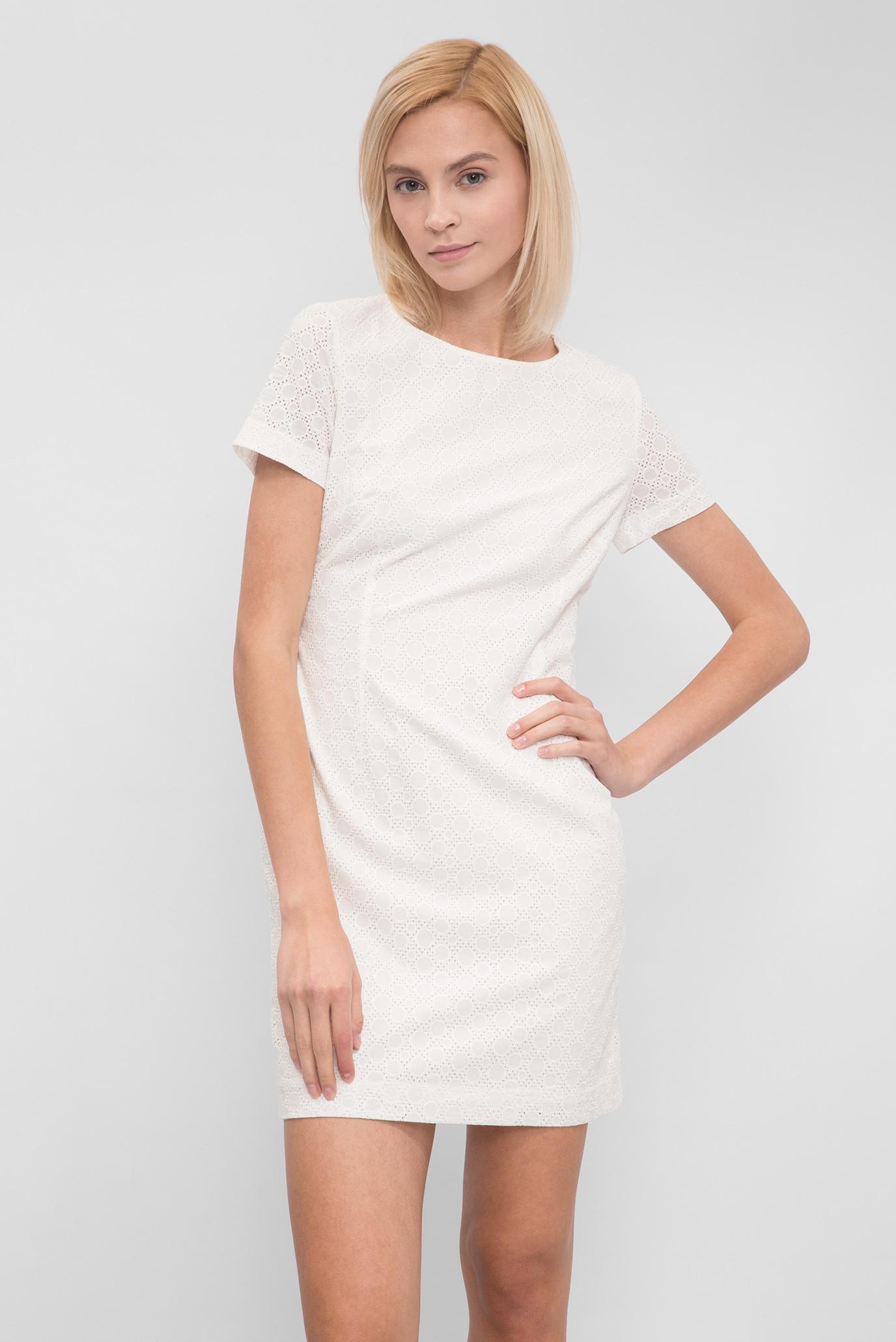 257ef641614e Купить Женское бежевое платье с вышивкой Gant Gant 450866 – Киев ...