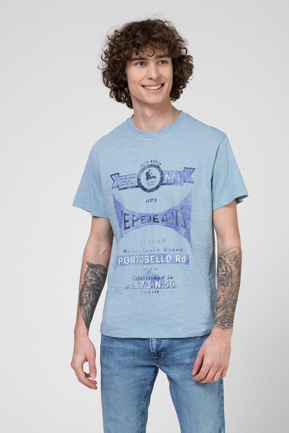 Мужская голубая футболка с принтом HARVEY