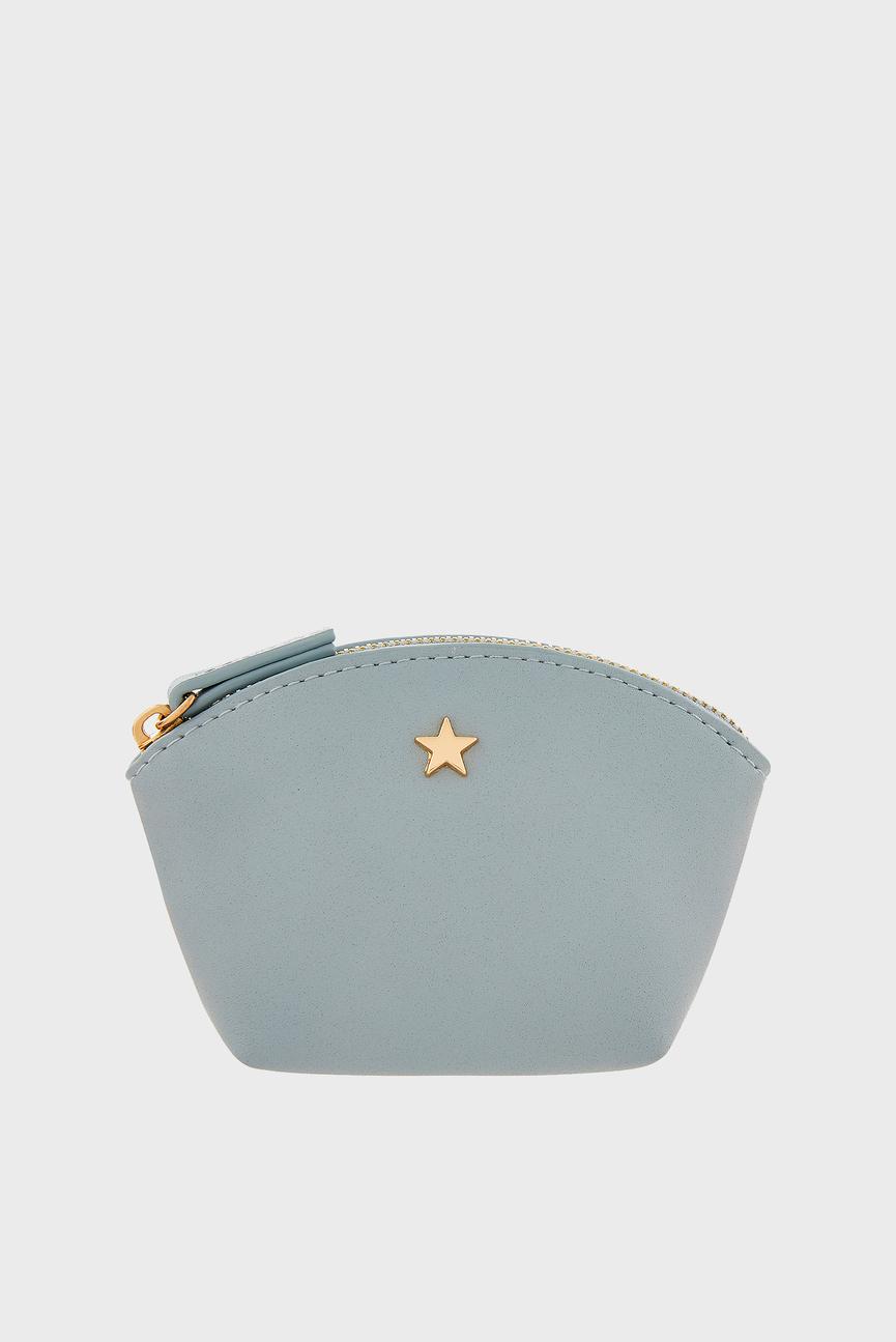 Женский голубой кошелек CHARM COIN PURSE