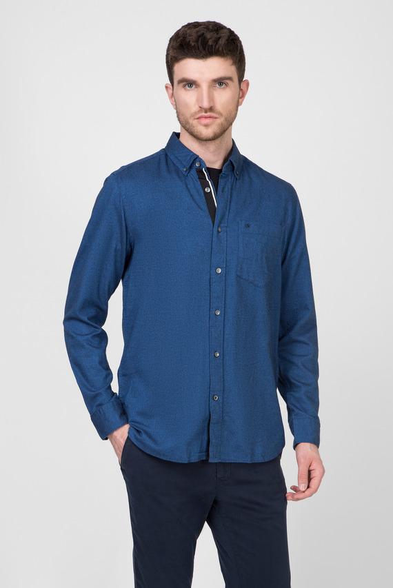 Мужская синяя рубашка BUTTON DOWN BRUSHED TWILL