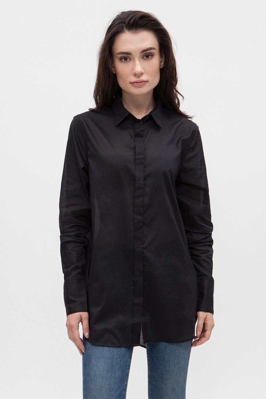 Женская черная рубашка Deline boyfriend shirt