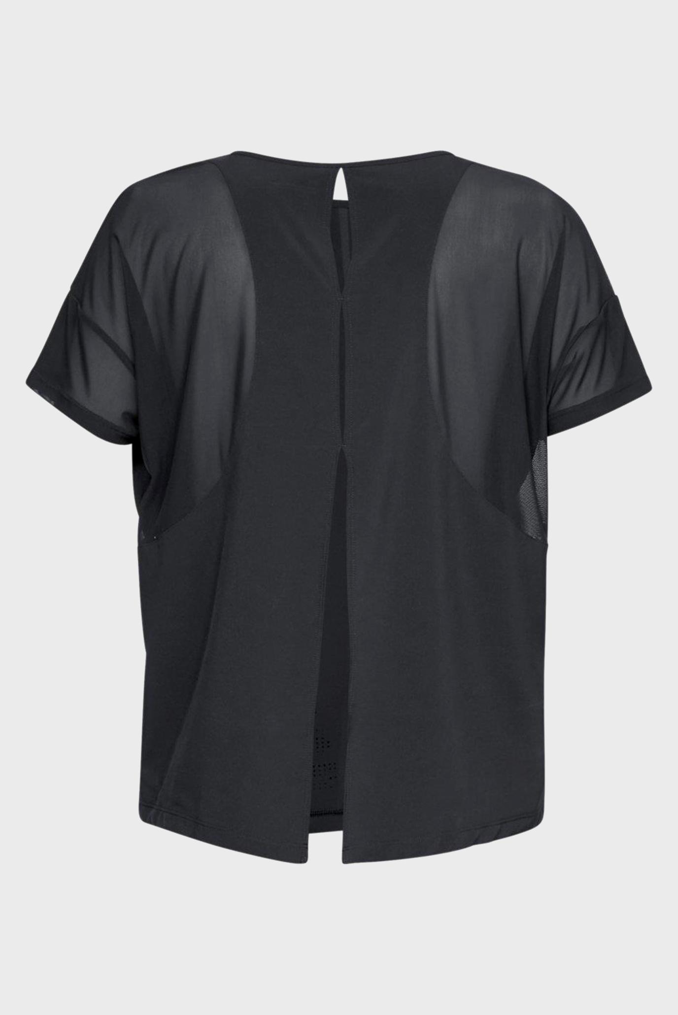 Купить Женская черная футболка Perpetual Woven Short Sleeve Under Armour Under Armour 1318055-001 – Киев, Украина. Цены в интернет магазине MD Fashion