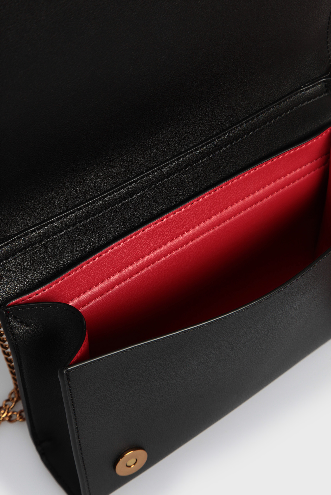 Жіноча чорна сумка через плече BORSA Love Moschino