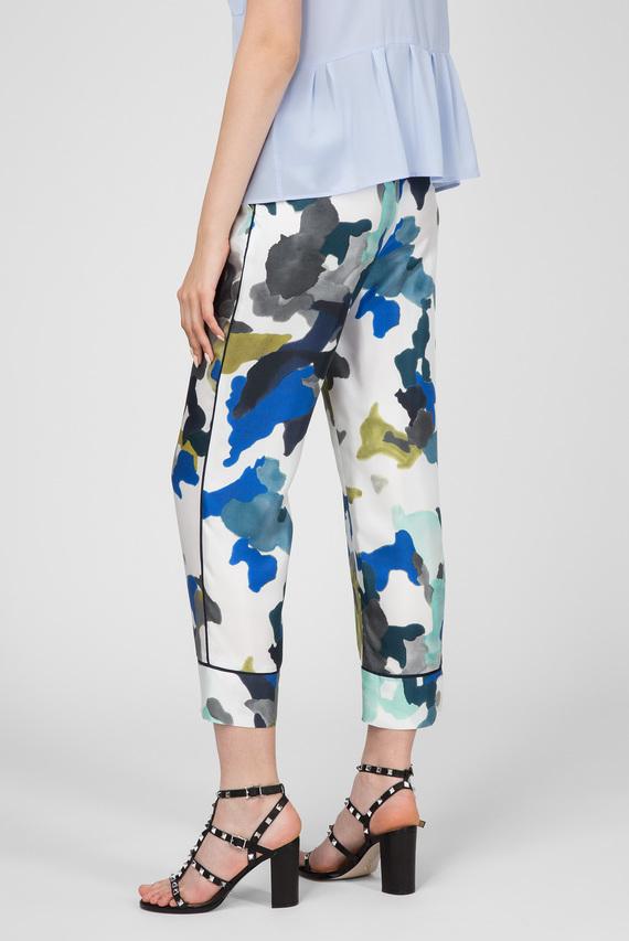 Женские белые принтованные брюки HOSE