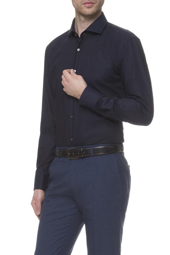 Мужская темно-синяя рубашка Slim Fit Easy Iron