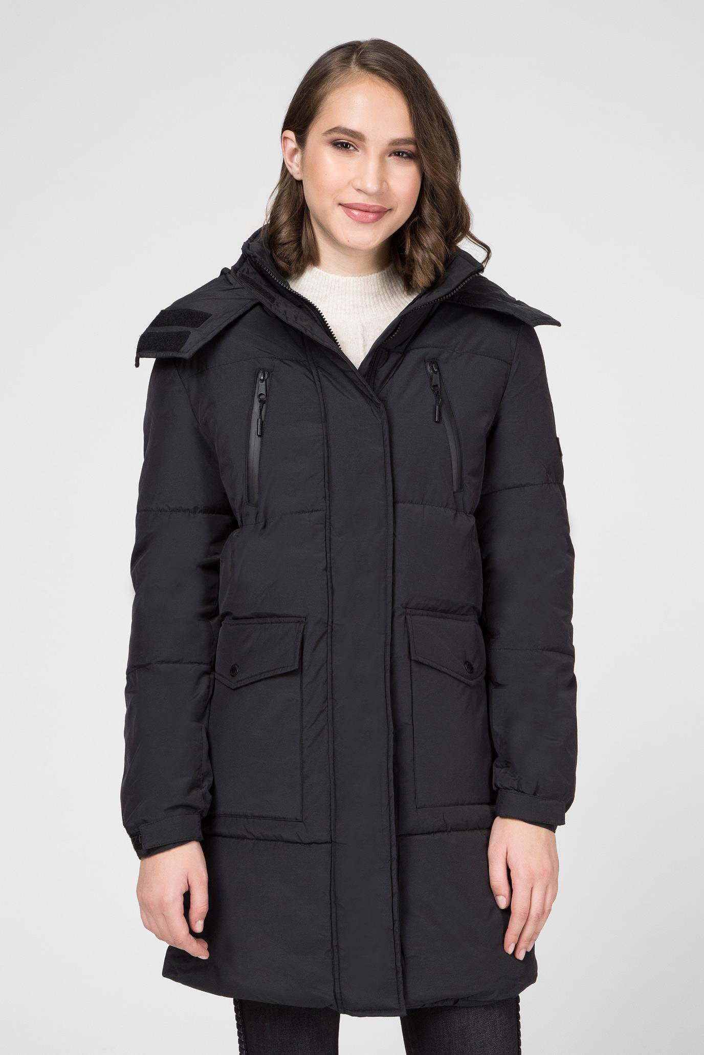 Жіноча чорна подовжена куртка NATT 1