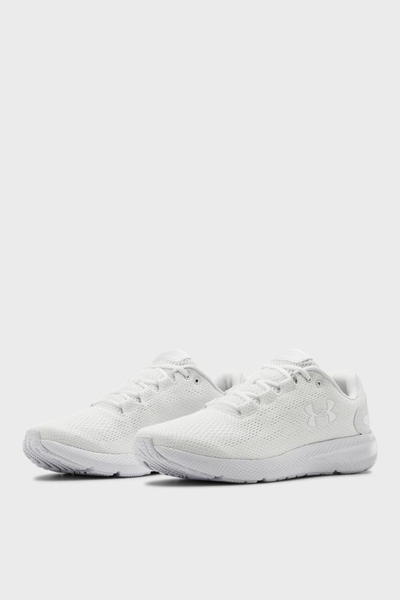 Мужские белые кроссовки UA Charged Pursuit 2