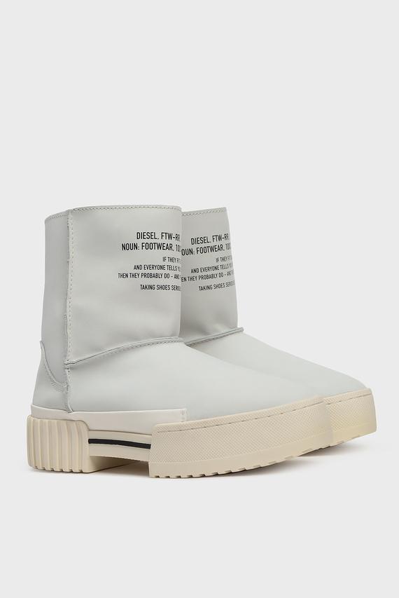 Женские белые кожаные угги MERLEY / S-MERLEY LC