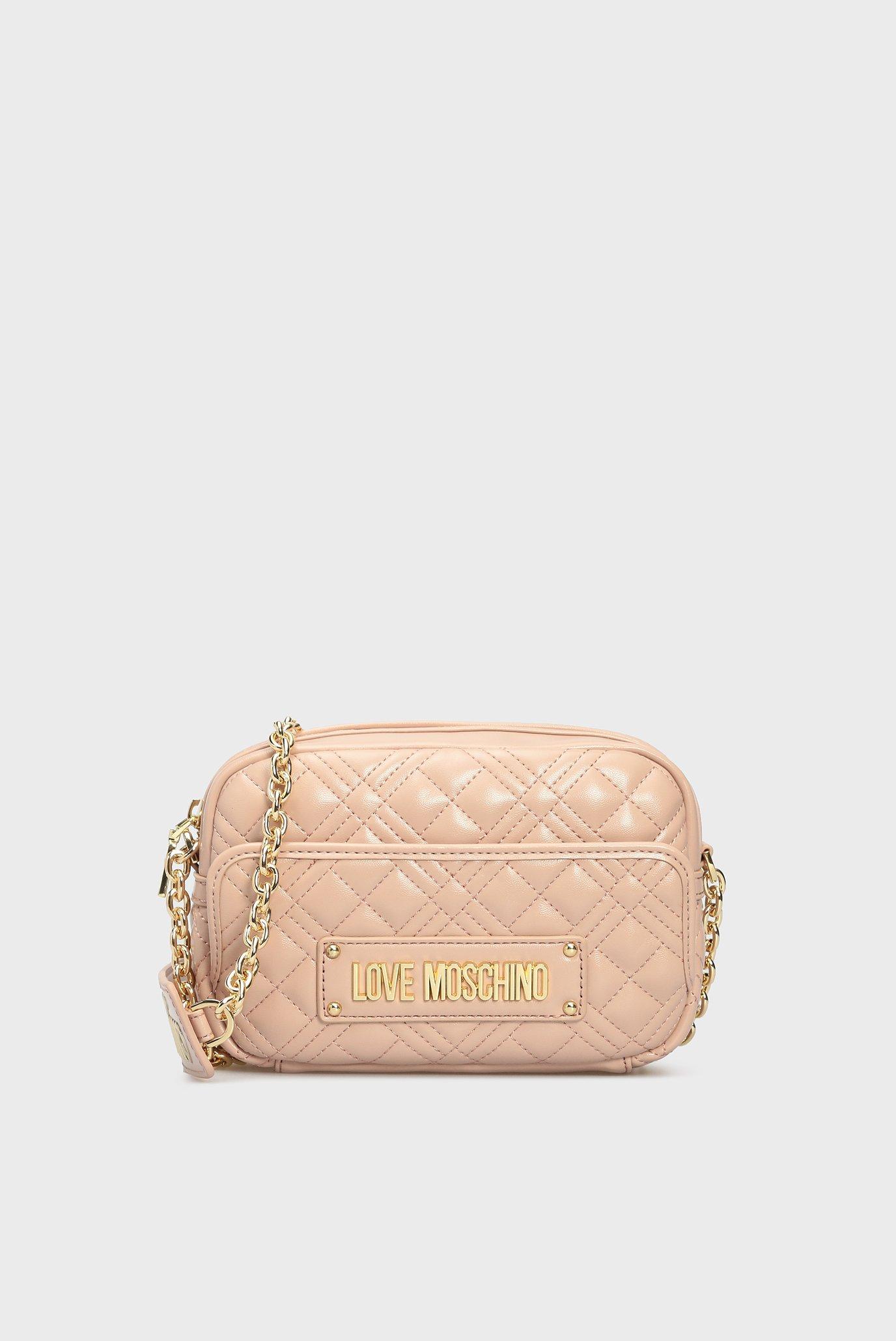 Женская розовая сумка через плечо BORSA Love Moschino