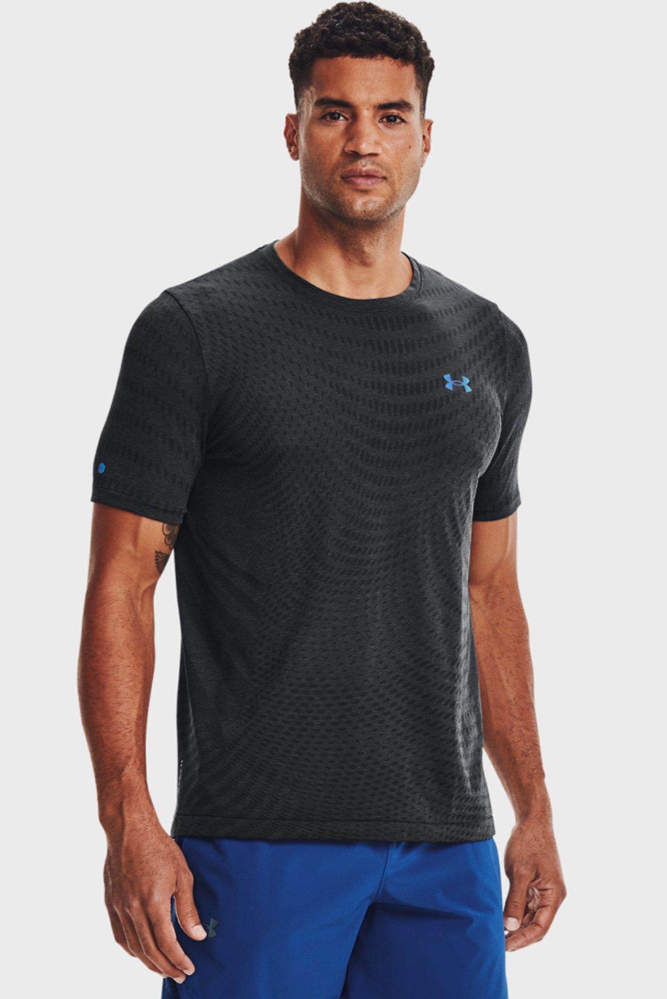 Мужская черная футболка UA Rush Seamless Illusion SS 1