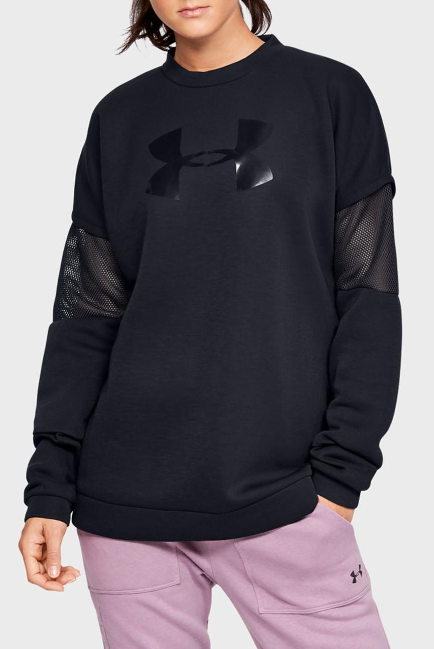Женский черный свитшот с перфорацией UA Move Light Tunic