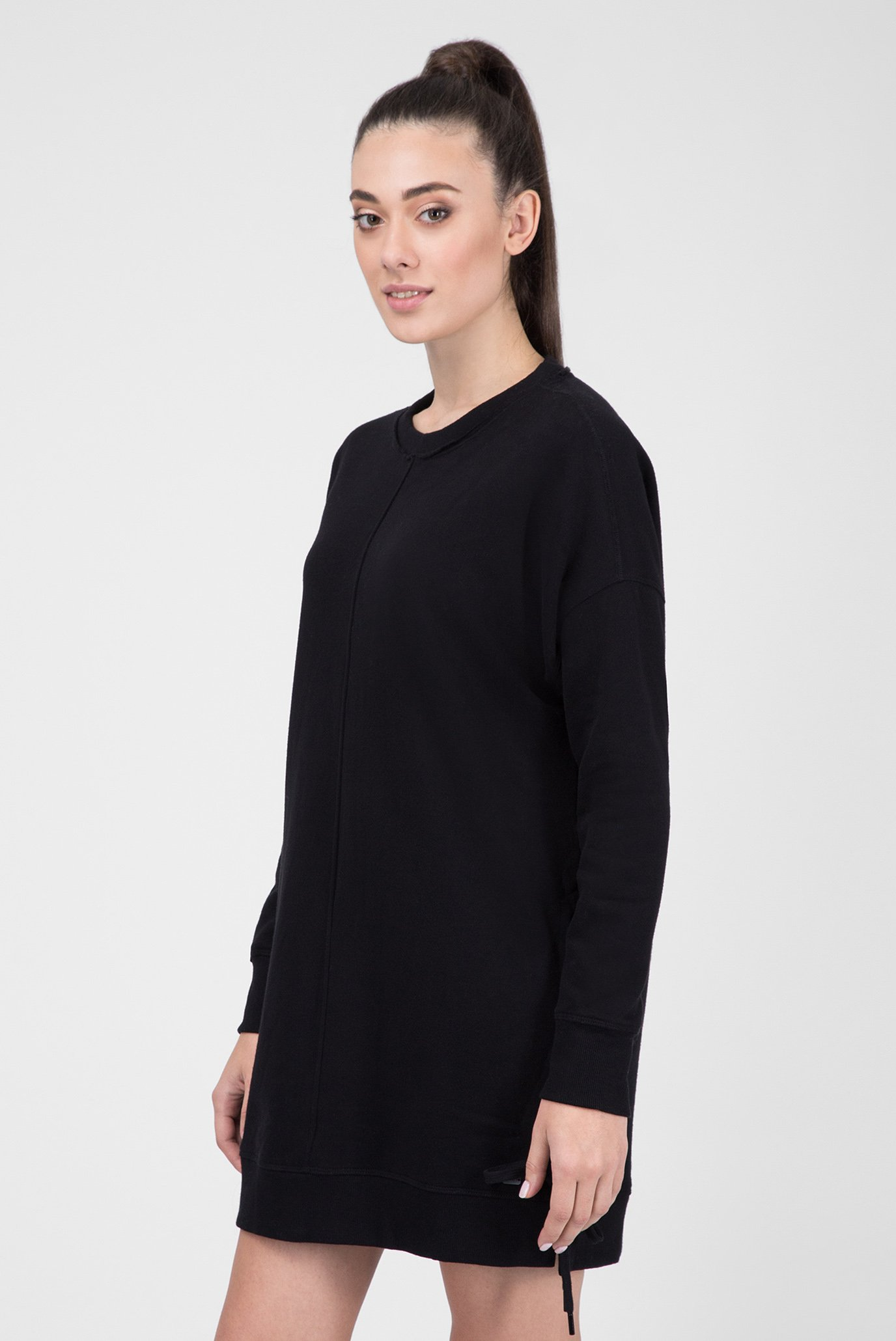 Купить Женское черное платье-свитшот DKNY DKNY DP8D4031 – Киев, Украина.  Цены в интернет магазине MD Fashion 3763b6858e6
