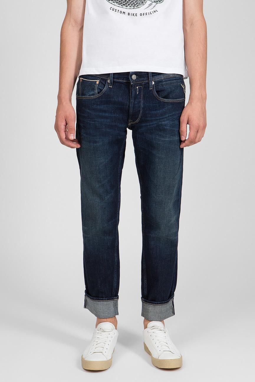 Мужские темно-синие джинсы RONAS