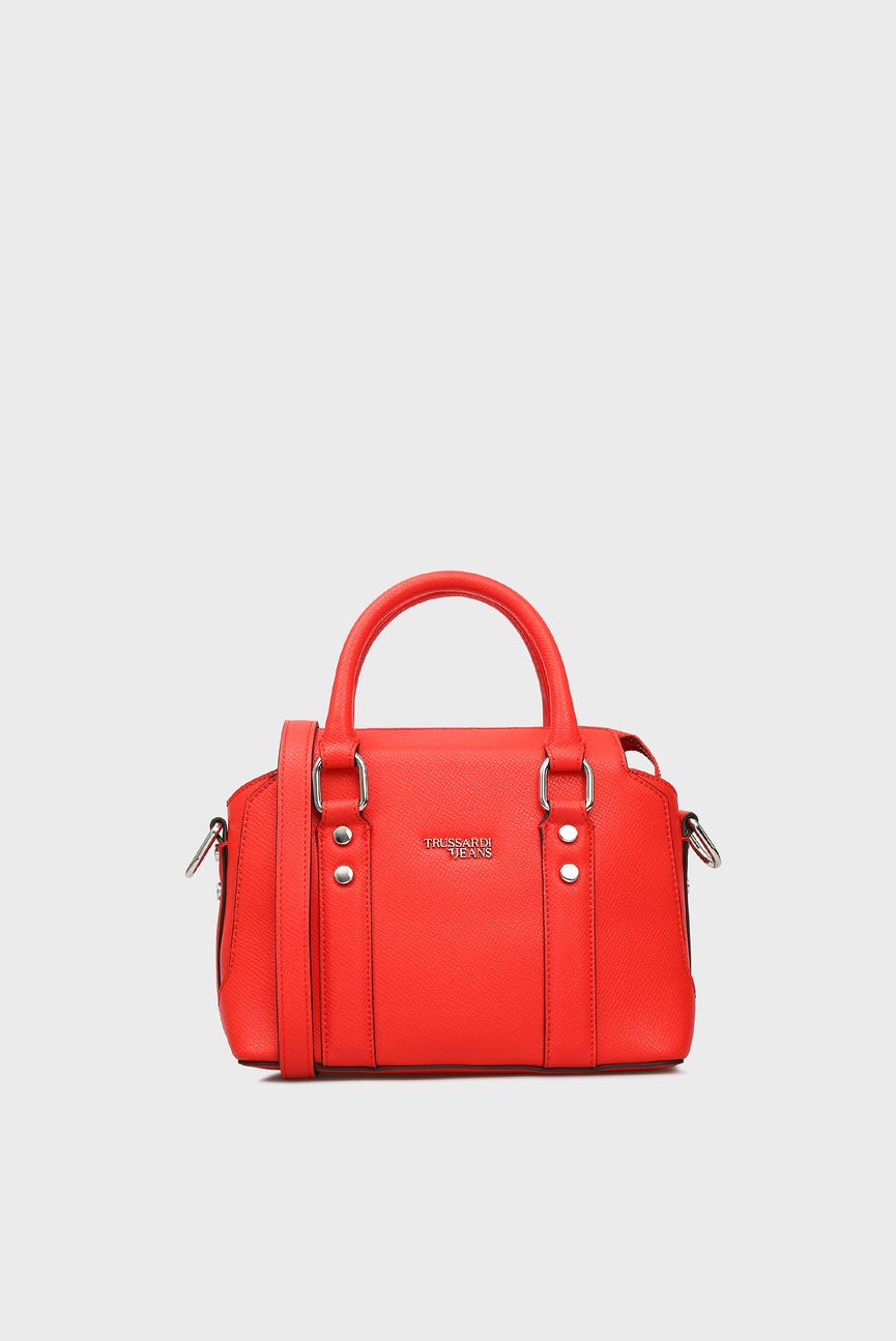 Женская красная сумка на плечо