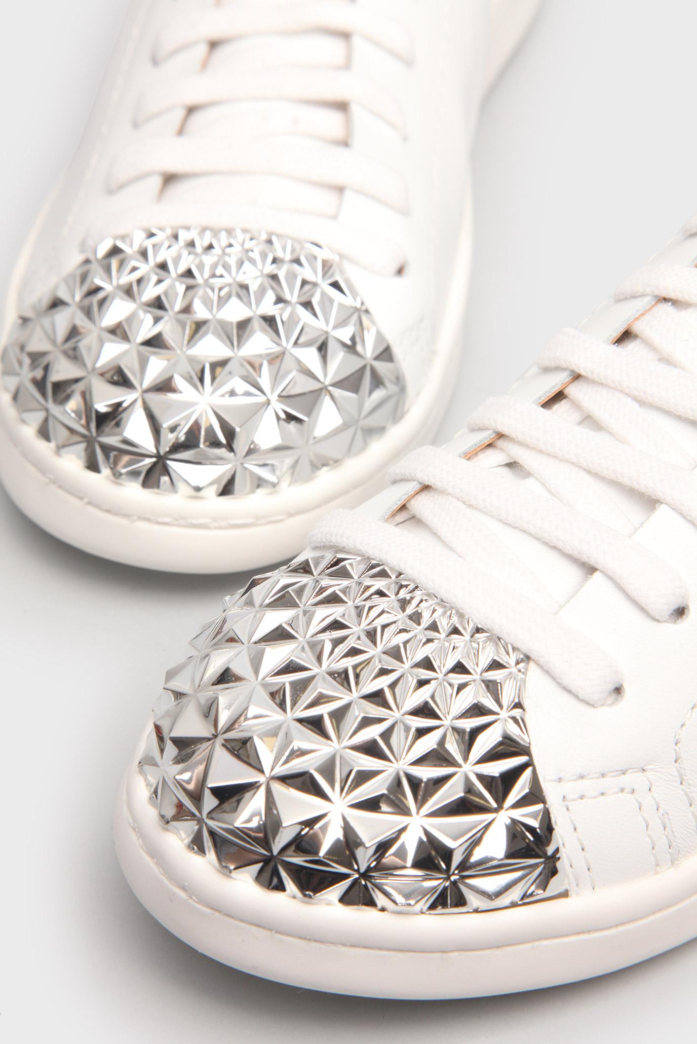 Купить Женские кожаные кеды с металлическим носком Schutz  Schutz  S2022600040001U – Киев, Украина. Цены в интернет магазине MD Fashion