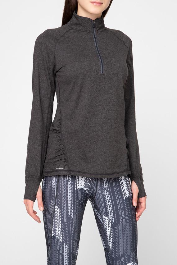 Женская темно-серая спортивная кофта