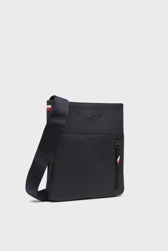 Мужская темно-синяя сумка через плечо ESSENTIAL PIQUE