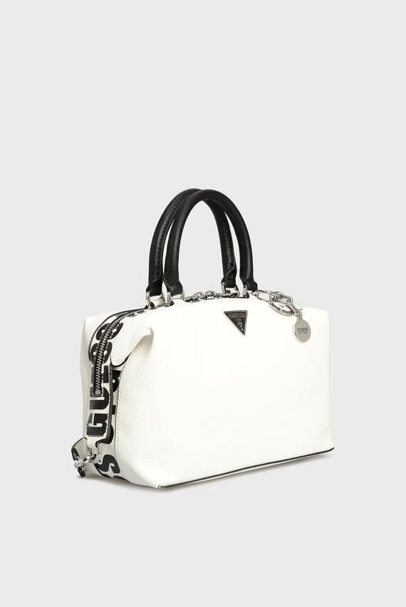 Женская белая сумка через плечо