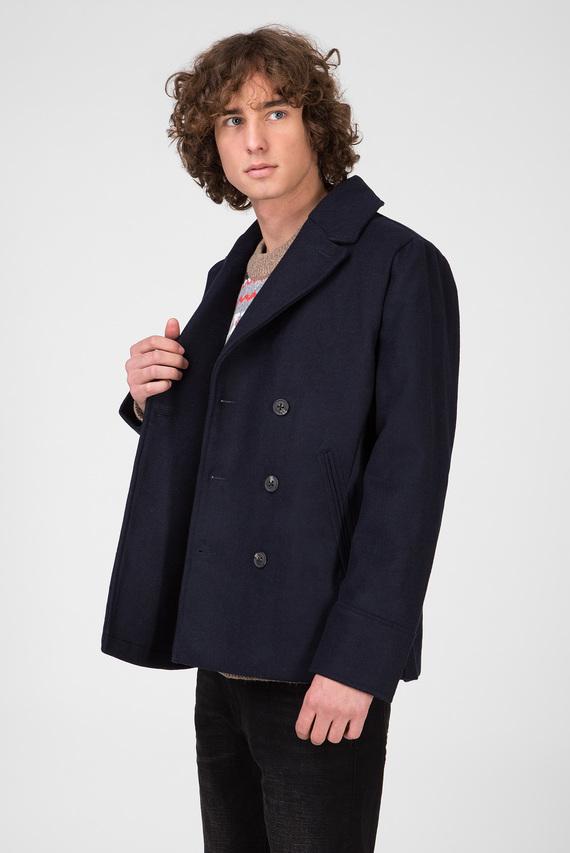 Мужское темно-синее пальто CHRISTIAN