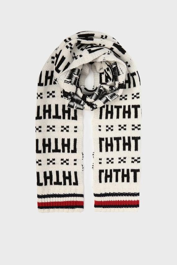Мужской бежевый шарф TH FAIRISLE