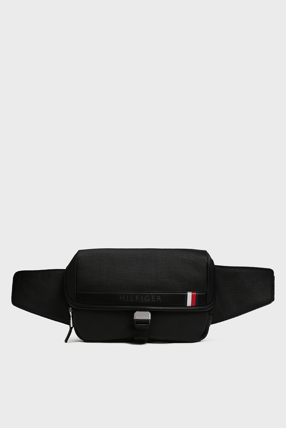 Мужская черна поясная сумка COATED CANVAS