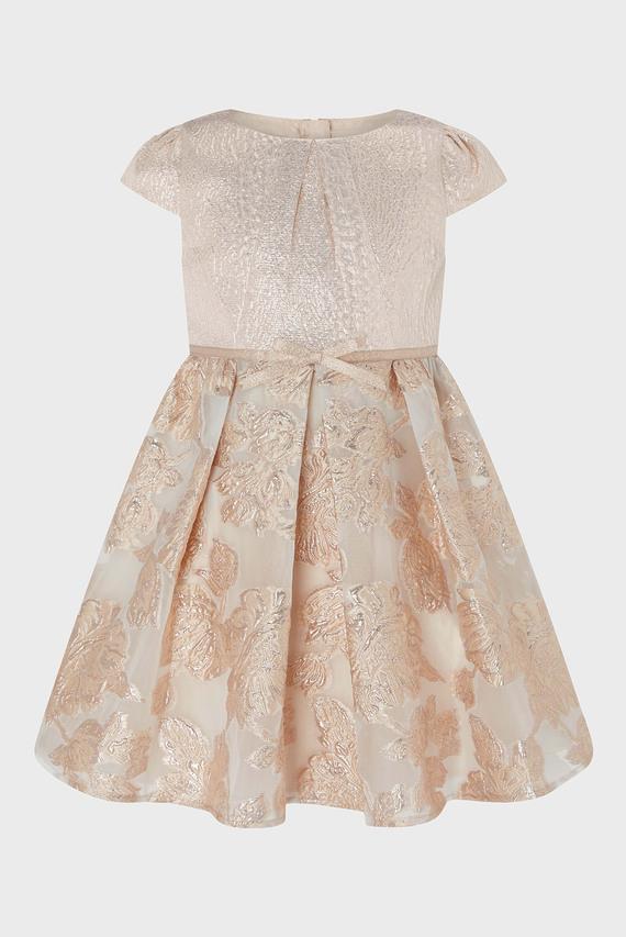 Детское розовое платье CARA JACQUARD