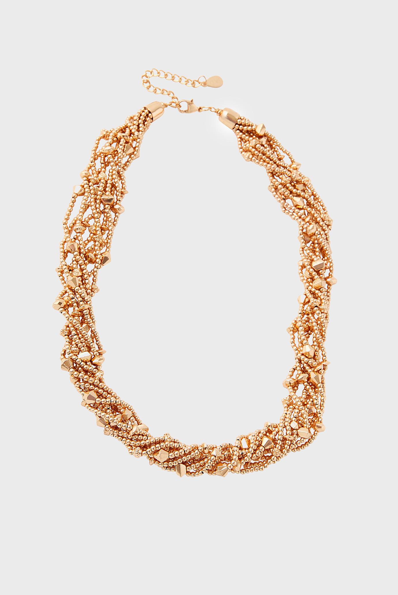 Жіноче золотисте намисто BEADED TWIST ROUND C 1