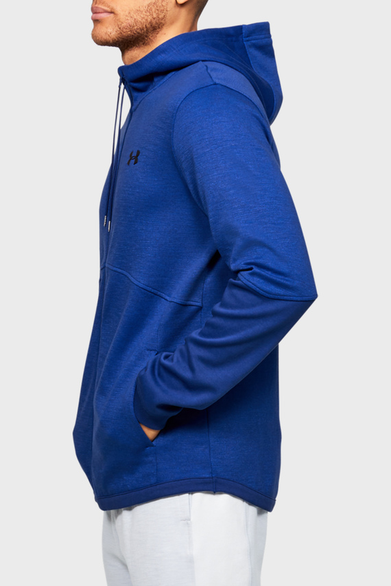 Мужское синее спортивное худи DOUBLE KNIT FZ HOODIE