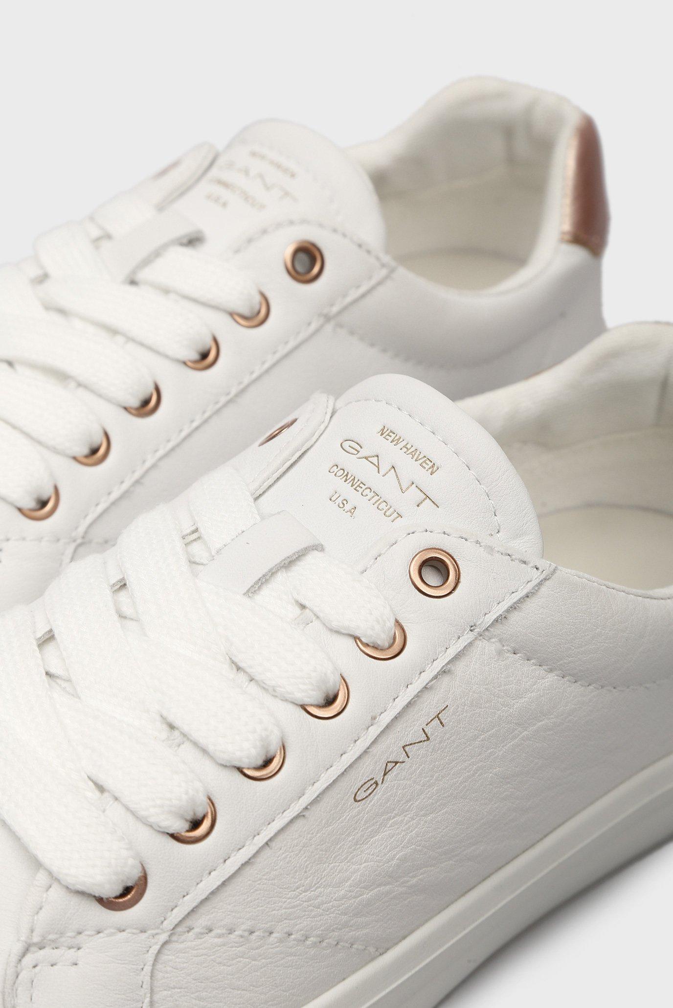 Женские белые кожаные кеды BALTIMORE Gant