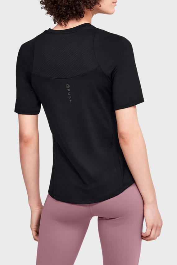 Женская черная спортивная футболка UA Rush SS