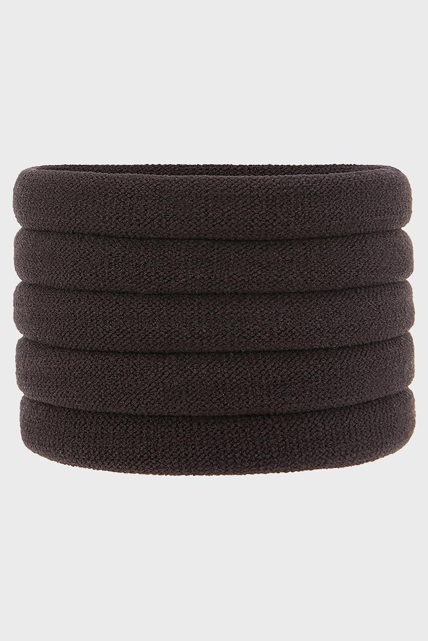 Набор коричневых резинок для волос (5 шт)