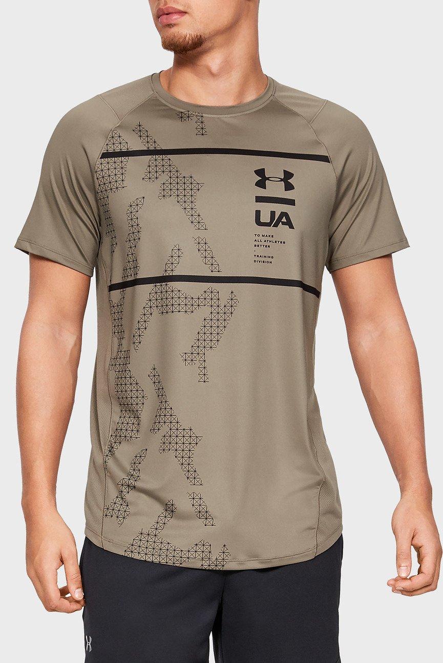 Мужская светло-коричневая футболка MK1 SS Q2 Printed