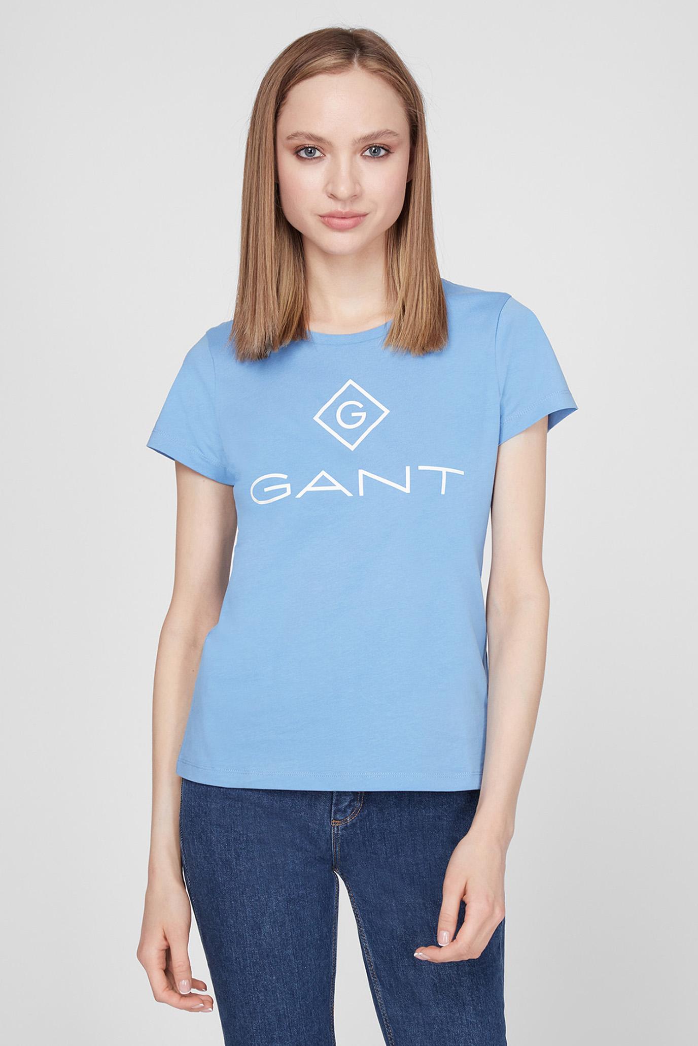Женская голубая футболка LOCK UP SS T-SHIRT 1