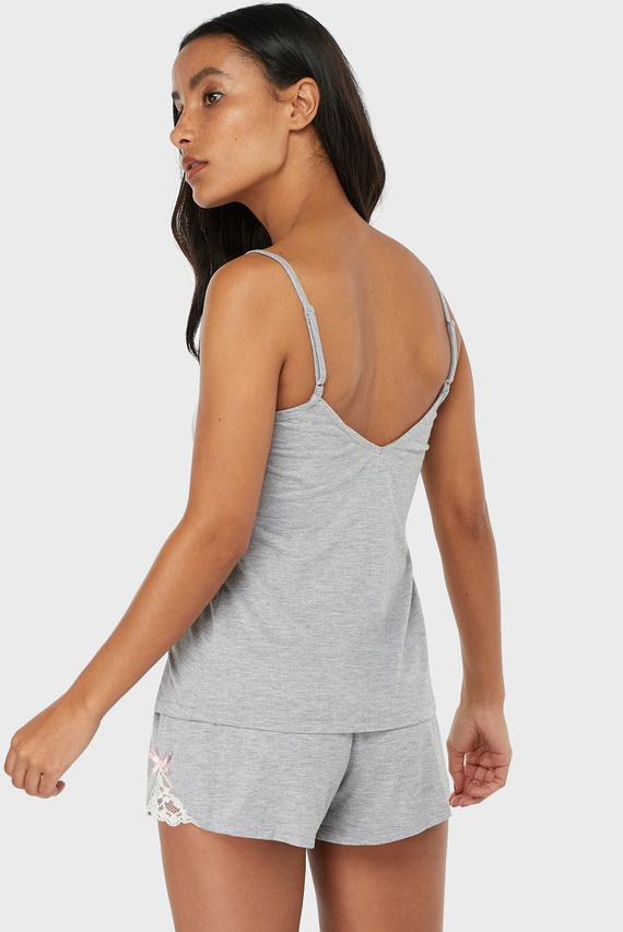 Женская серая пижама (топ, шорты) Teya Plain Vest