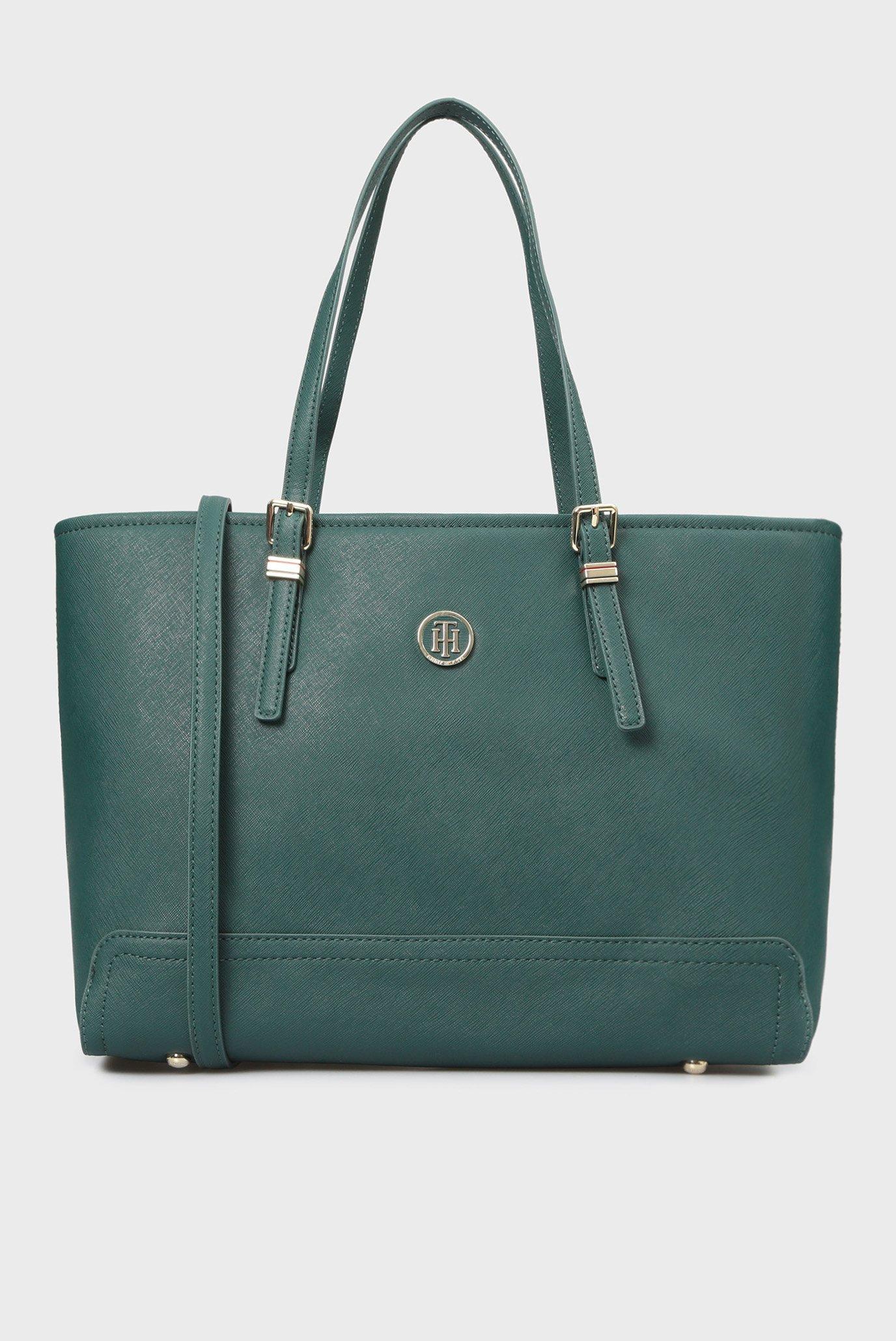 Купить Женская зеленая сумка на плечо HONEY MED TOTE Tommy Hilfiger Tommy Hilfiger AW0AW05831 – Киев, Украина. Цены в интернет магазине MD Fashion