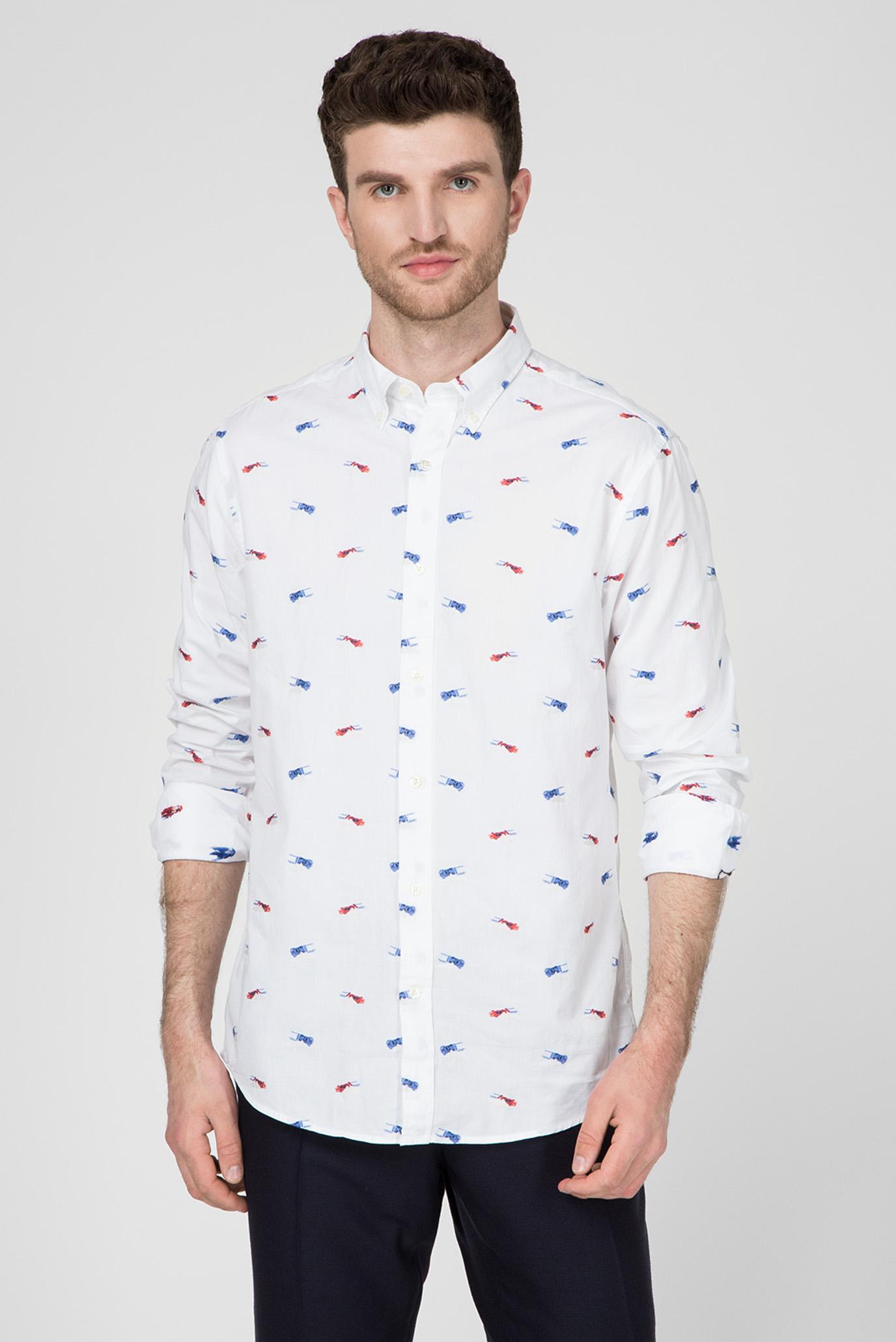 Чоловіча біла сорочка LE MANS Fil Coupe Regular 1