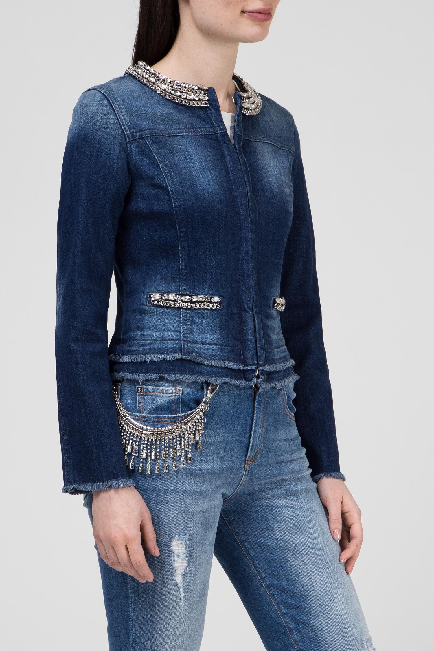 Купить Женская синяя джинсовая куртка SALINGER Nenette/TLJ Nenette/TLJ SALINGER – Киев, Украина. Цены в интернет магазине MD Fashion