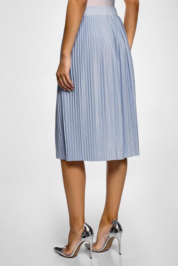 Женская голубая юбка-плиссе